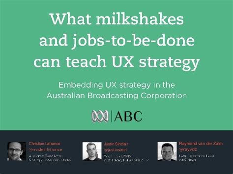 What I Can Teach You About Careers by What Milkshakes And To Be Done Can Teach Ux Ux