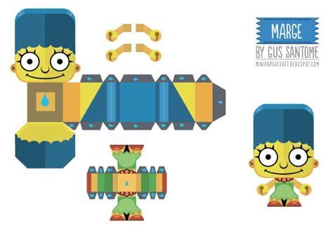 Simpsons Papercraft - papertoys simpsons de gus santome paper toys template