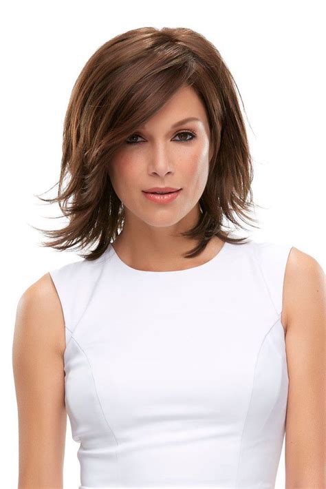add side swept bangs to bob rosie lace front wig this layered wig features a bob style