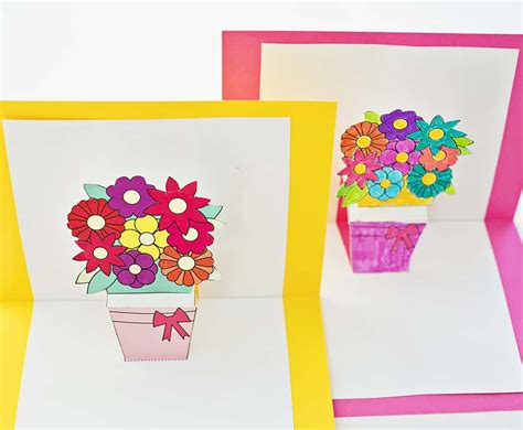 thank you free printable pop up card templates how to make pop up flower cards with free printables