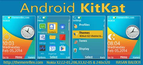 android themes version 2 3 6 android kitkat live theme for nokia x2 00 x2 02 x2 05