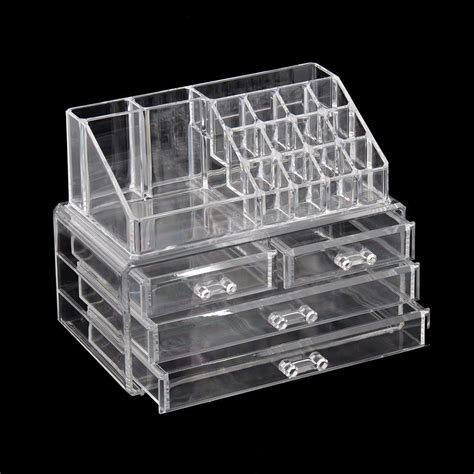 jewelry storage containers for drawers cosmetic organizer clear acrylic makeup drawers holder