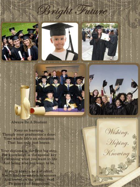 Graduation Photo Collage Template Graduation Collage Card Add On Templates Download Free