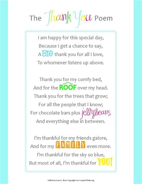 appreciation letter to sunday school the thank you poem fantastic words poems