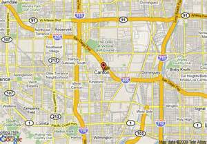 map of doubletree carson civic plaza carson