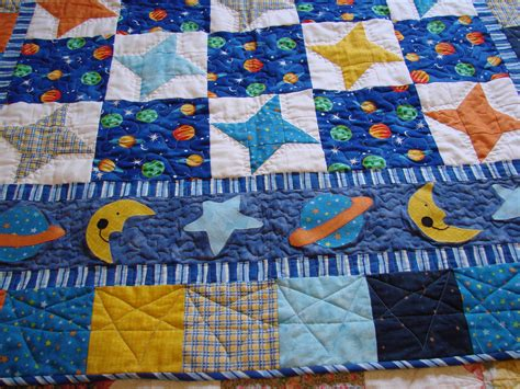 Outer Space Quilt outer space baby boy quilt