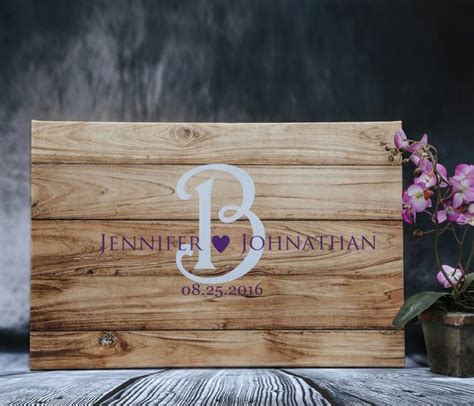 wedding guest book ideas on wood canvas rustic wedding sign etsy