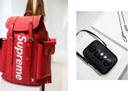 Travel Bag Lv Supreme Epi 47x26x20 louis vuitton x supreme co branded denims camouflage