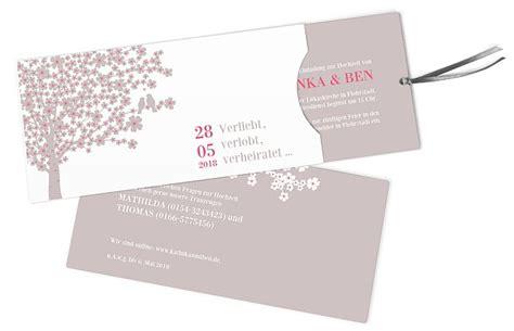 Hochzeitseinladung Zum Rausziehen by Hochzeitseinladungen Drucken Einladungskarten Zur Hochzeit