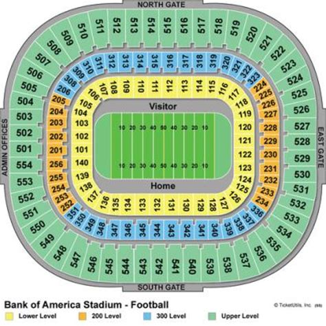 bank of america stadium seating vipseats bank of america stadium tickets