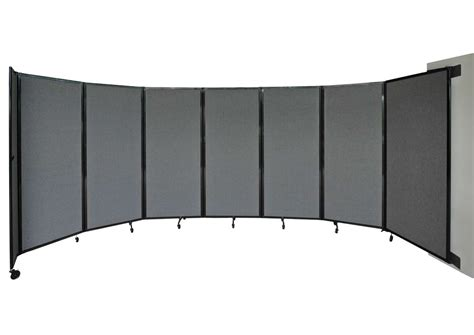 room divider 360 wall mounted partition versare room divider 360 5 x 8 6 quot rye fabric wall mount