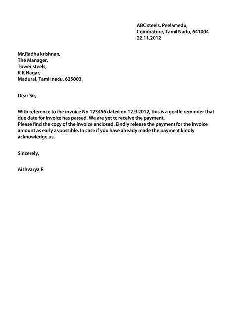 Outstanding Payment Request Letter To Customer Dollar Price Letter Regarding Outstanding Payment