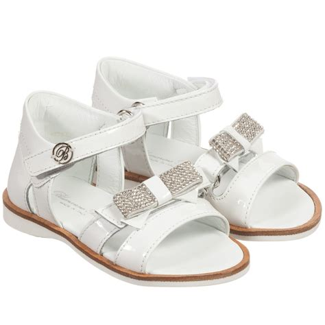white bow sandals miss blumarine white patent leather bow sandals