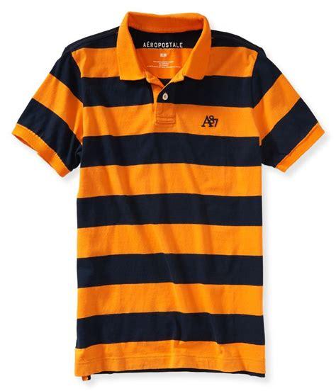 Aeropostale A87 Heritage Bar Stripe Jersey Polo Shirt Original 1 aeropostale mens striped a87 rugby polo shirt ebay