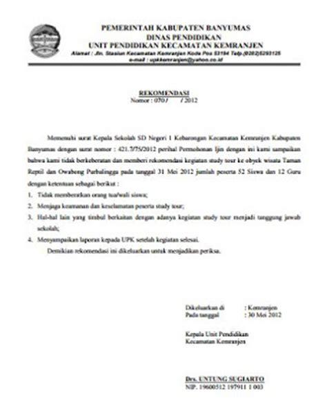 contoh surat tugas resmi sekolah mendingi siswa lomba