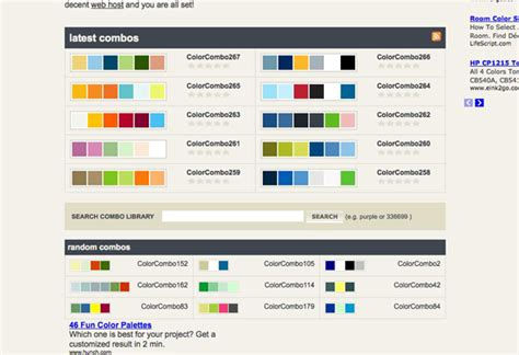 color and color schemes with web page color schemes