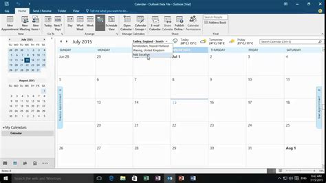 Add Outlook Calendar To Office 2016 Adding The Weather To The Outlook Calendar