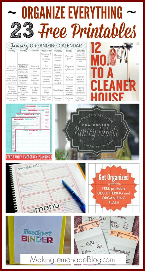 Decorating A Log Home by 23 Free Printables To Organize Everything Making Lemonade