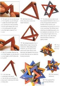 Origami Tetrahedron - origami tetrahedron 5 crafty origami and