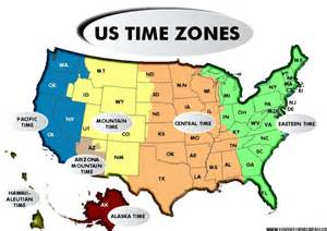 time zone map for america time zones
