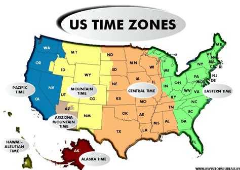 us timezone map time zones