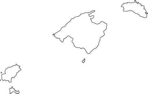 Island Outline by Blank Map Caribbean Islands