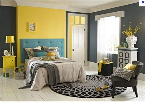 yellow teal grey bedroom bed room