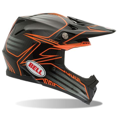 Helm Bell Motocross bell mx moto 9 pinned road motocross carbon fibre