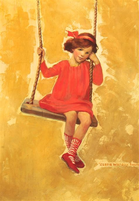 girl on swing painting girl on swing by jessie willcox smith american 1863