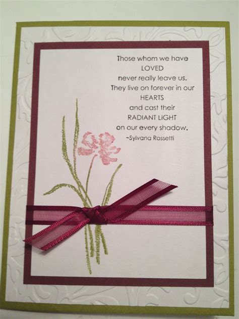 Handmade Sympathy Cards Verses - 181 best images about sympathy cards on