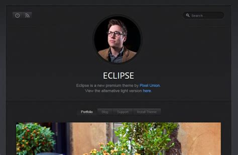 eclipse theme portfolio 20 stunning tumblr portfolio themes science and technology