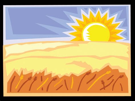 landscape layout powerpoint the desert and the sun landscape powerpoint templates