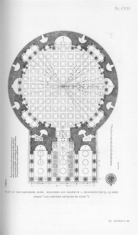 pantheon floor plan pantheon rome plan other title pantheon rome italy