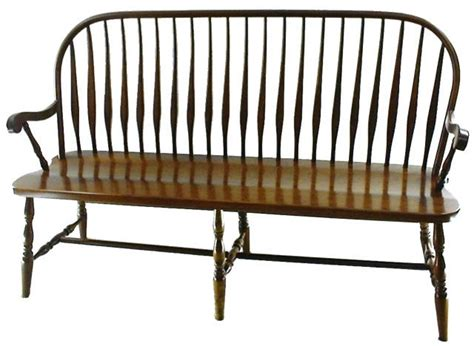 windsor benches amish bent feather windsor bench