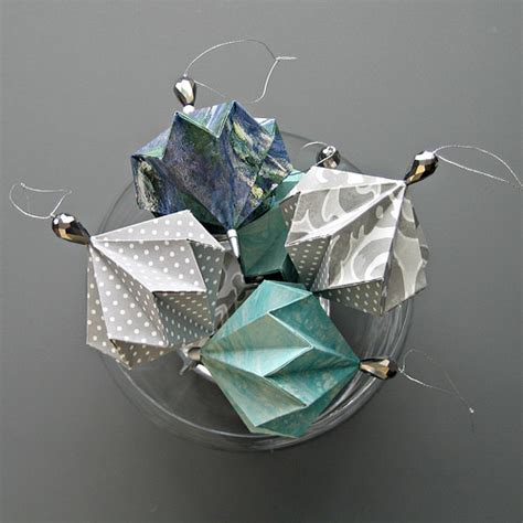 Origami Ornaments - all things paper origami ornament techniques tips for
