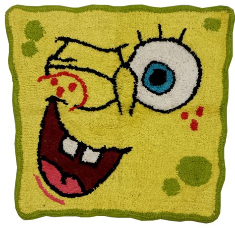 Spongebob Area Rug Spongebob Bathroom Rug Bubblin Around Bath Accessories Eclectic Rugs By Obedding