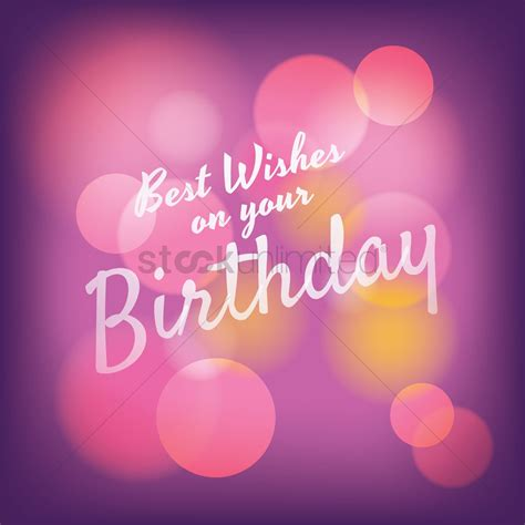 best wishes for you best wishes on your birthday greeting vector image