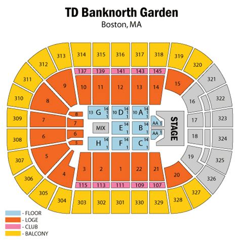 Td Garden Seating Map by Keith July 08 Tickets Boston Td Garden Keith