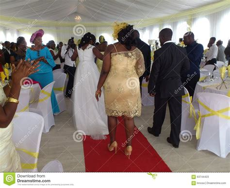 Wedding Hostess Attire by The Course Of Marriage In Africa Editorial Stock Photo