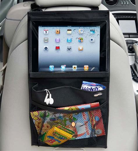 organize media backseat media organizer in car seat organizers