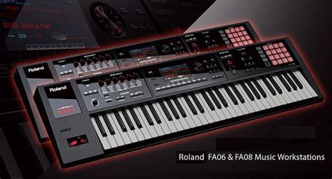 Keyboard Roland Seri E roland fa series fa 06 fa 08 workstation