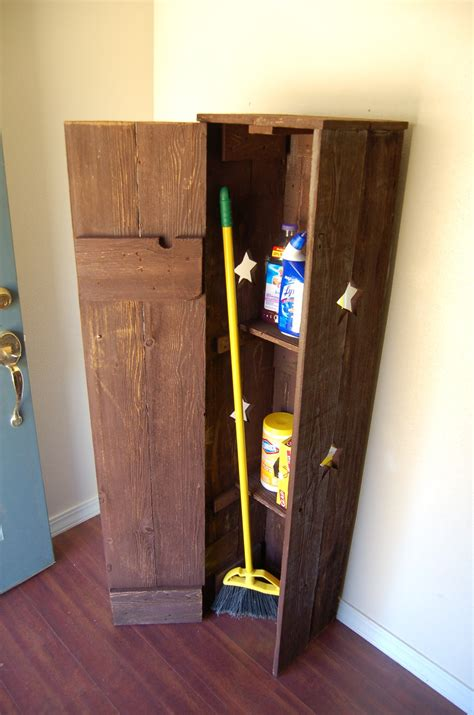 broom storage cabinet wood broom closet cabinet smart and practical solution to