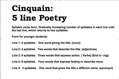 cinquain template cinquain poem exles www pixshark images