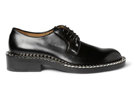 the chain s still rattling raf simons chain trimmed leather derby shoes shoeography