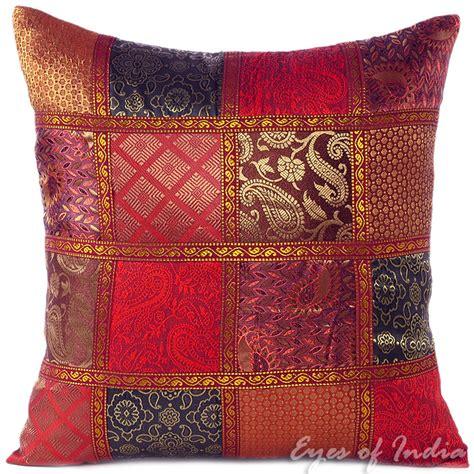 burgundy throw pillows sofa 16 quot burgundy red silk brocade decorative sofa throw pillow