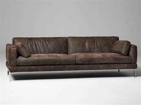 3 seater leather sofa contemporary brown leather 3 seater