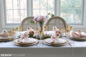 Elegant Table Settings elegant christmas table setting with pink and gold