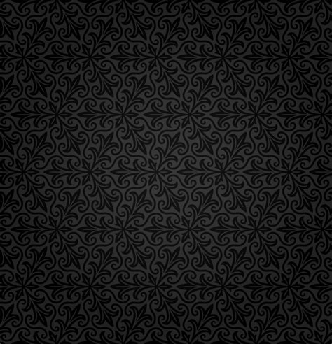 black wallpaper background vector black retro floral background vector free vector graphic