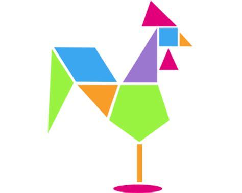 figuras geometricas que forman el tangram geometr 237 a y figuras planas con la ayuda del tangram