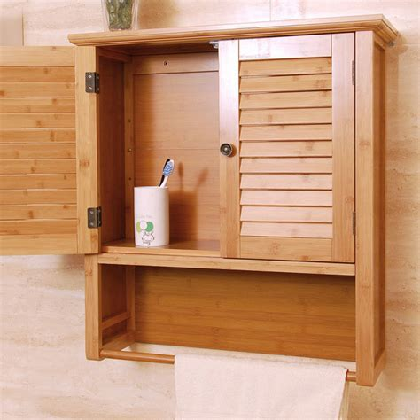 Modern Bathroom Wall Cabinet China Bamboo Modern Wall Mounted Storage Cabinet For Bathroom Care Partnerships
